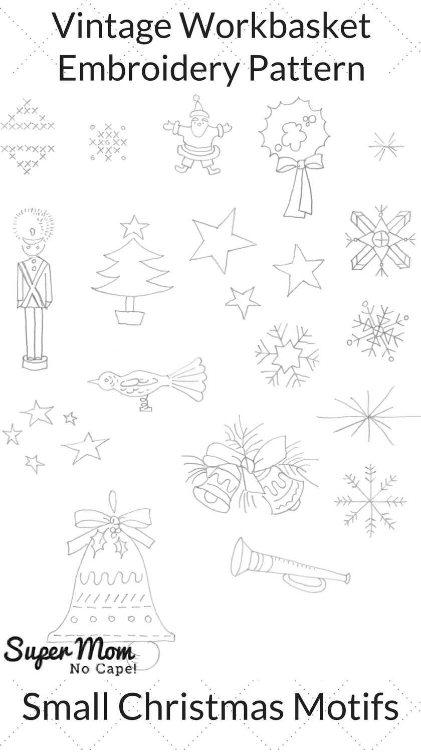 Vintage Workbasket Embroidery Pattern - Small Christmas Motifs