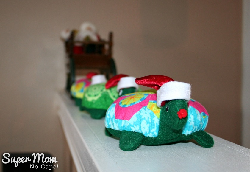 A Hexie Turtle Chrismas Eve - Lexie pretending to be Rudolph