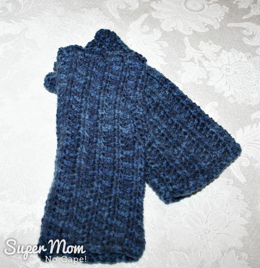 Fingerless gloves made by Pauline