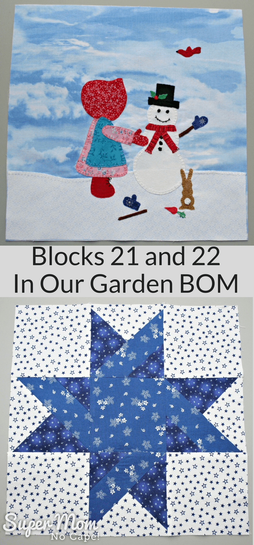 Blocks 21 and 22 - In Our Garden BOM 2016