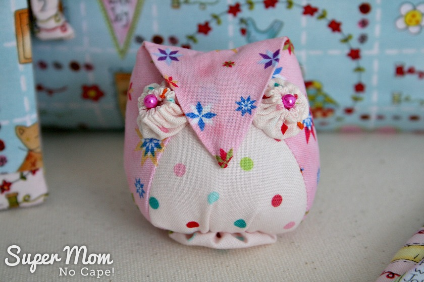 Artemis Owl Pincushion for 9th Anniversary Giveaway on Super Mom - No Cape!