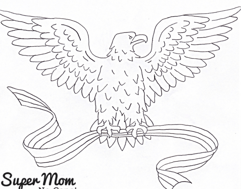Vintage Workbasket Embroidery Pattern - Eagle with Banner