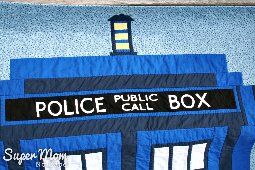 Dr Who Tardis Quilt - Police Public Call Box sign