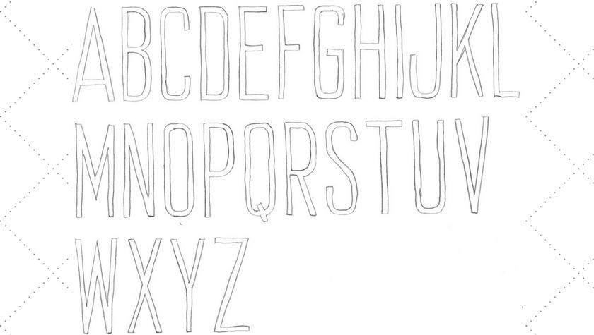 Vintage Embroidery Monday - 2 Inch Mid Century Modern Alphabet