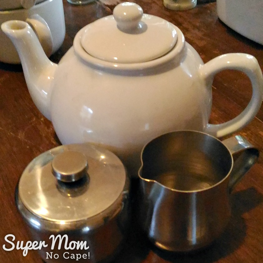 How to Set Up a Kitchen on the Cheap - teapot sugar bowl and creamer