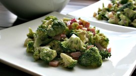 Broccoli Salad with Balsamic Mayo Dressing - A perfect salad for brunch for two