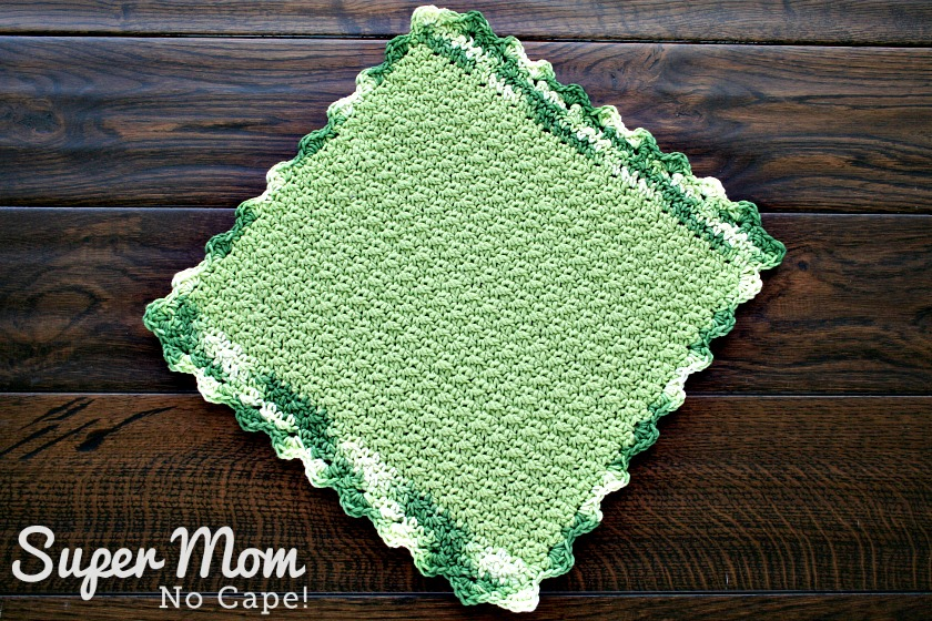 Crocheted Seed Stitch Dishcloth Pattern - made with leftover yarn