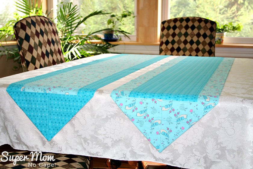 One Hour Table Runner - 2 owl table runners finished