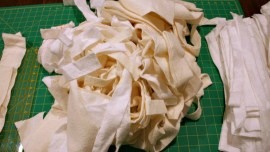 How to Join Leftover Strips of Quilt Batting - Get out your batting strips and sort them