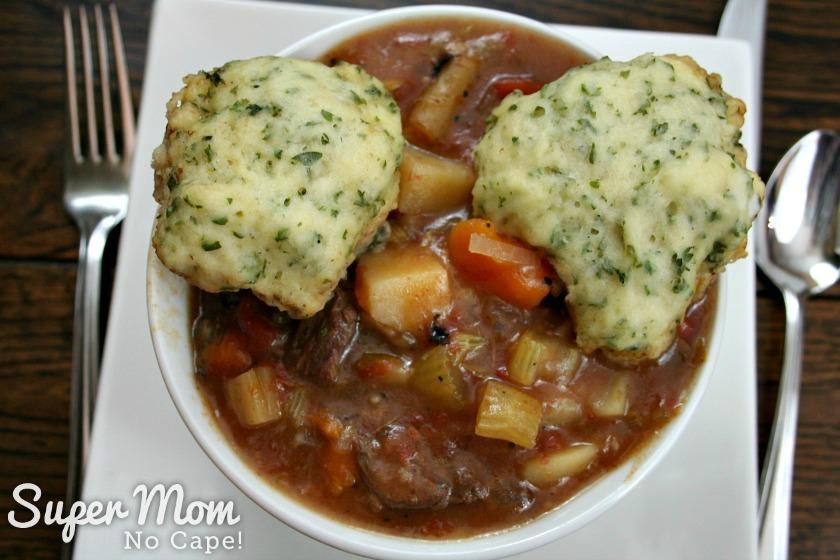 Beef Stew with Dumplings - 17 Beef stew and dumplings ready to eat
