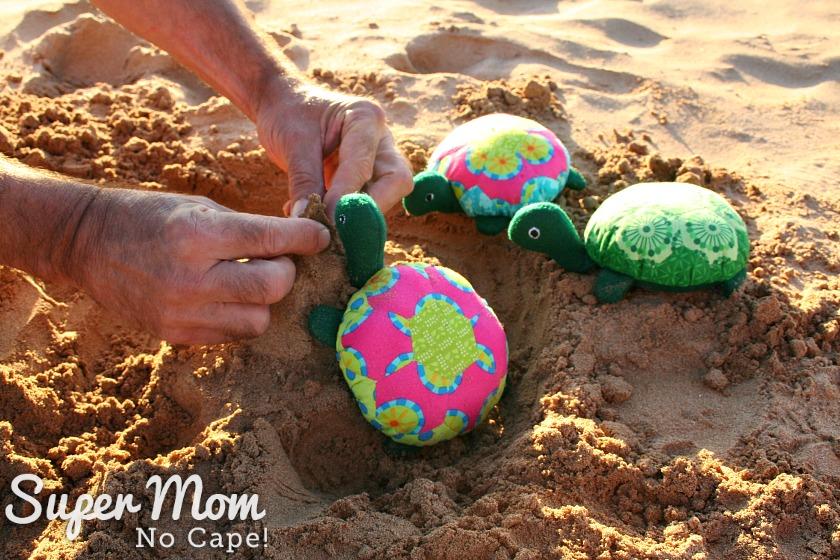 The Hexie Turtle's building a sand castle