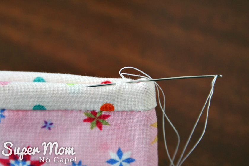Sew using invisible stitch aka ladder stitch