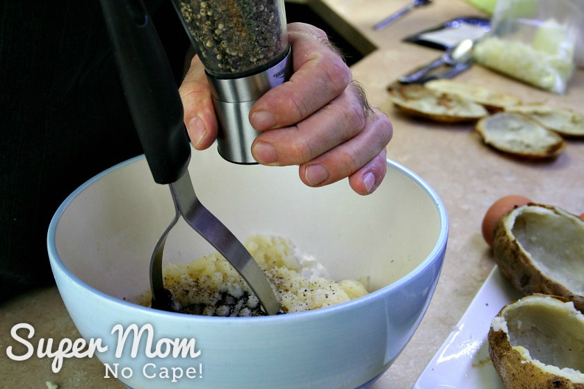 Add salt and pepper to taste by grinding it freshly