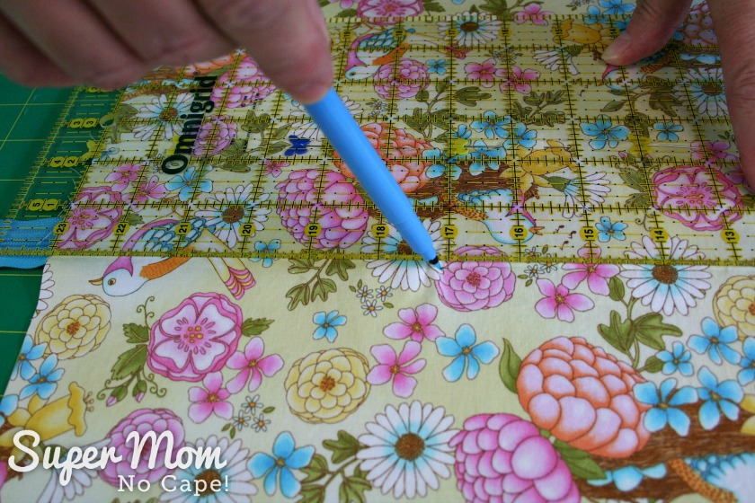 Draw sewing line