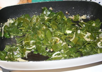 Caramelized Onions and Collards