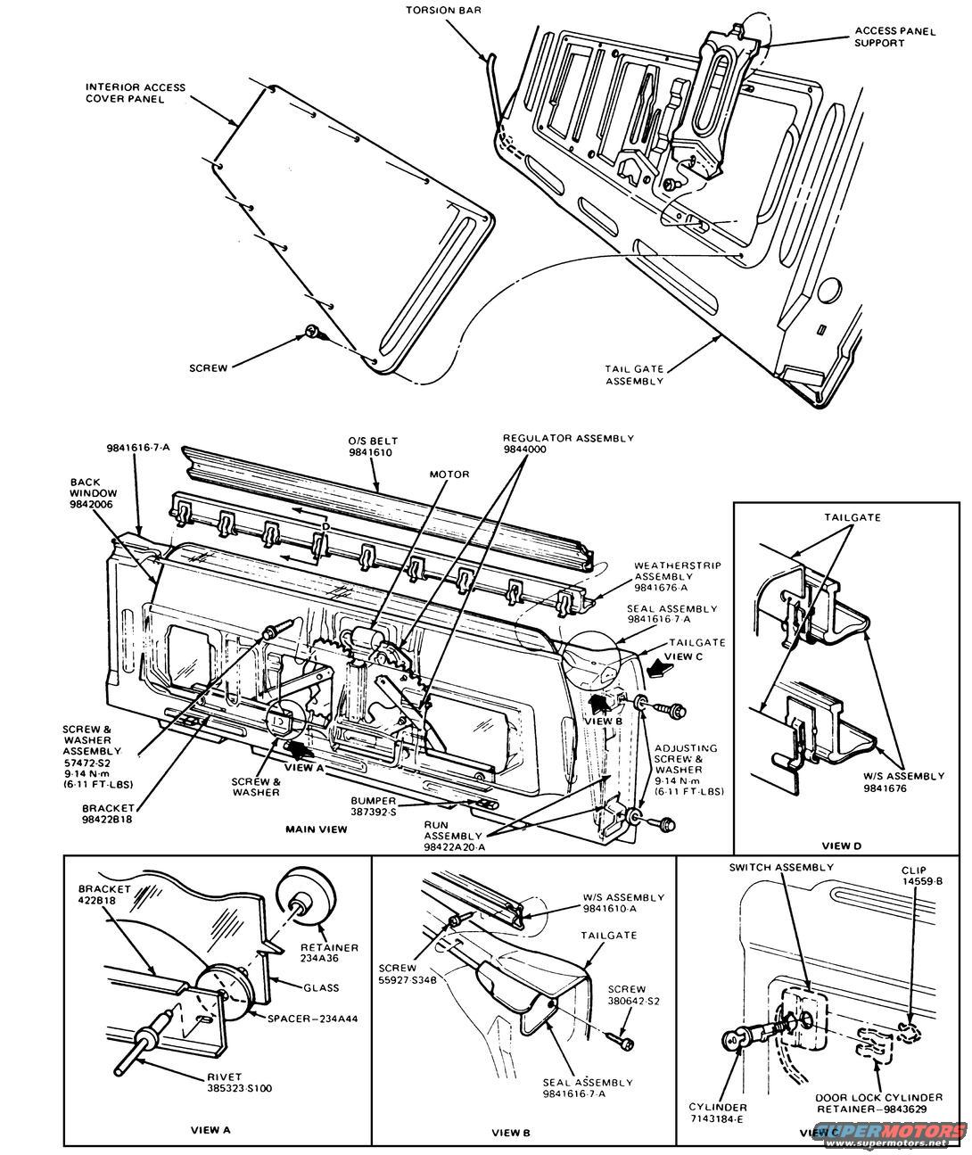 Ford Bronco Tailgate Tech Picture
