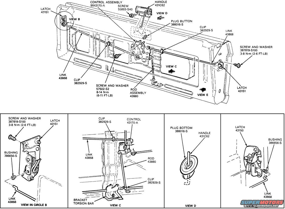 Toyota Tailgate Parts Diagram