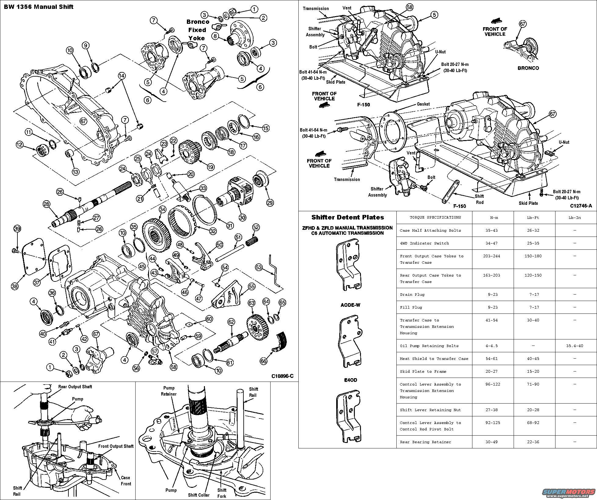 95 Ford F 250 Transfer Case Parts Diagram 95 Free Engine