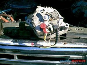 Installing HD alternator in 95 F350460  Ford Truck