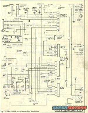 1986 Ford Bronco Wiring Diagrams picture | SuperMotors