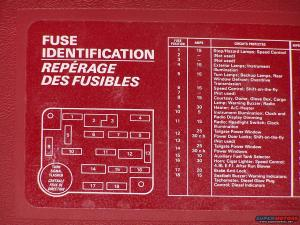 1990 58L Fuse Diagram  Ford Bronco Forum