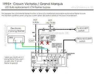 1996 Mercury Grand Marquis Panther LCM  lighting circuits