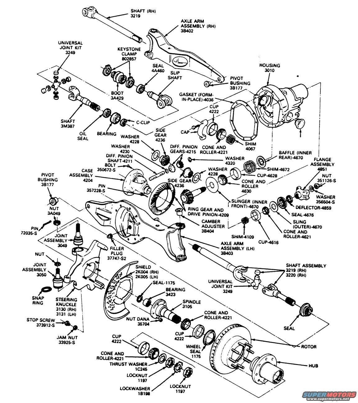 Ford F 250 4x4 Front Hub Diagram