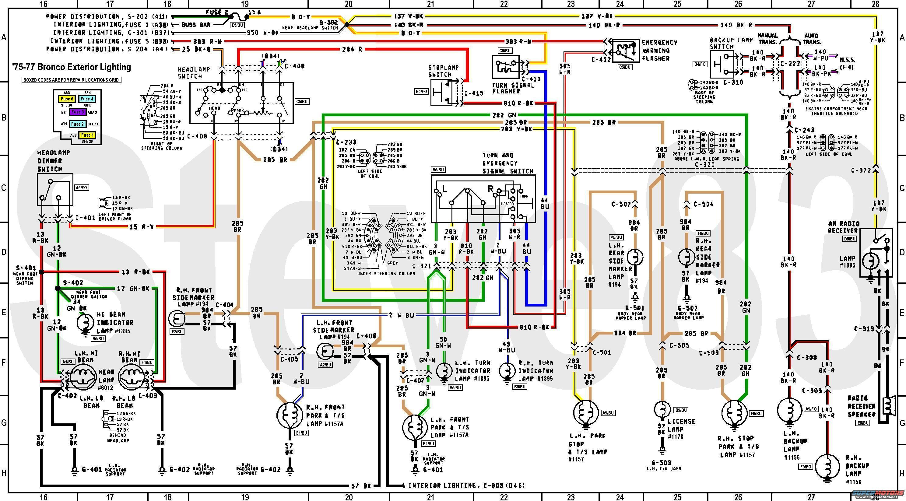 1972 Ford F100 Headlight Switch Wiring Diagram