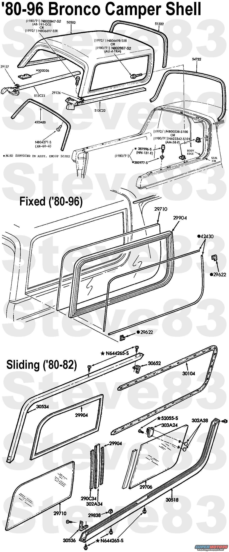 Ford Bronco Camper Shell Amp Sliding Side Windows