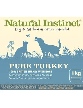 Natural Instinct Pure Turkey 1kg Tub