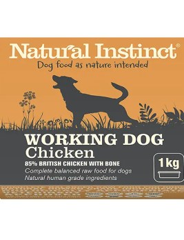 Natural Instinct Working Dog Chicken 1kg Tub