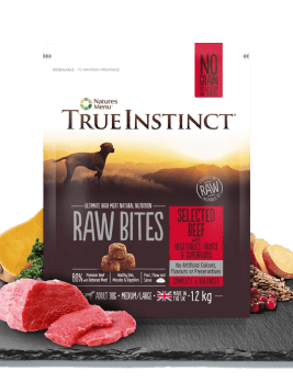 True Instict Raw Bites Adult Dog Beef 1.2kg Bag