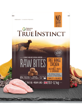 True Instinct Raw Bites Chicken 1.2kg Bag