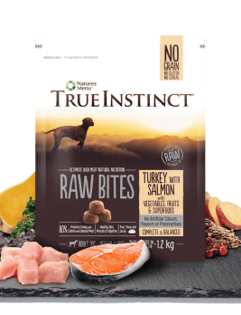 True Instinct Raw Bites Turkey with Salmon 1.2kg Bag