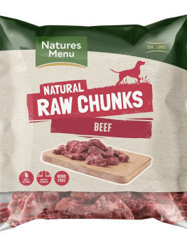 Natures Menu Raw Beef Chunks 1kg Baf