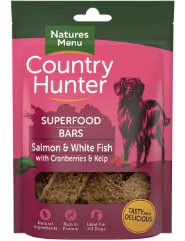 Country Hunter Superfood Bars Salmon and White Fish 100g Bag