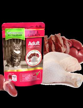 Natures Menu Original Cat Food Beef & Chicken 100g Pouch