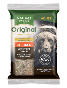 Natures Menu Original Raw Meals Chicken & Tripe 300g Front of Pack