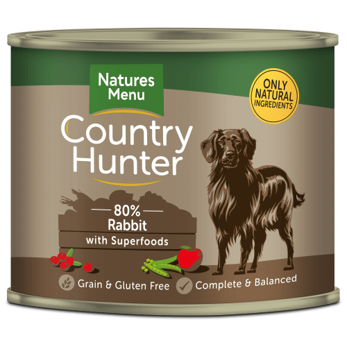 Country Hunter Dog Food Full Flavoured Rabbit 600g Can Front