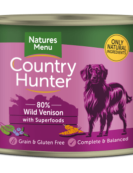 Country Hunter Dog Food Wild Venison 600g Can Front