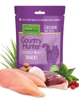 Country Hunter Freeze Dried Cat Snacks Chicken and Duck 50g Bag