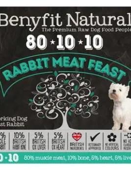 Benyfit Natural Rabbit Meat Feast 1kg Tub
