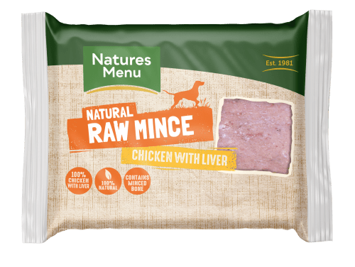 Natures Menu Chicken & Liver Block 400g Front of Pack
