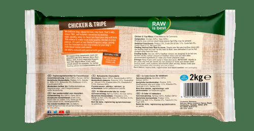 Natures Menu Freeflow Chicken & Tripe 2kg Back of pack