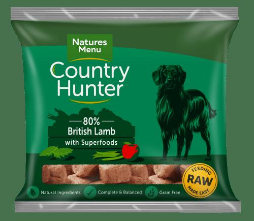 Natures Menu Country Hunter Nuggets Lamb 1kg Bag Front of Pack