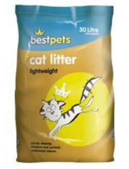 Bestpets Lightweight Cat Litter 30 litres Front of Pack