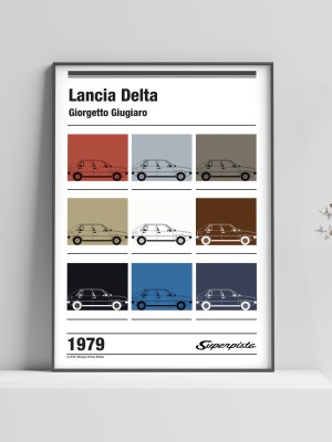Lancia Delta - colored tiles