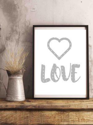 plakat z napisem love_plakat miłość
