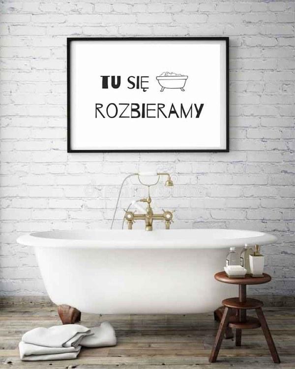 Plakat do pobrania Plakat do łazienki do druku