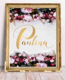 0454_PAULINA obrazki z imieniem dziecka do wydrukowania do ramki-1